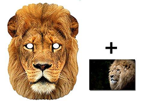 (Löwe Tier Single Karte Partei Gesichtsmasken (Maske) Enthält 6X4 (15X10Cm) starfoto)