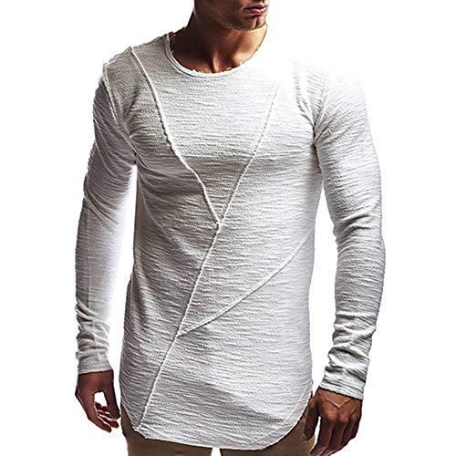Togelei Herren tops Männer Basic Fashion Langarm Casual -