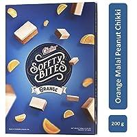 Charliee Soft Malai Chikki - Orange Peanut Chikki - Light and Healthy Indian Sweet - Gift Pack – 200 g - Pack of 3