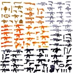BOROK 129Pcs Weapons Set Custom for LEGO Mini Figures SWAT Team Soldiers Police