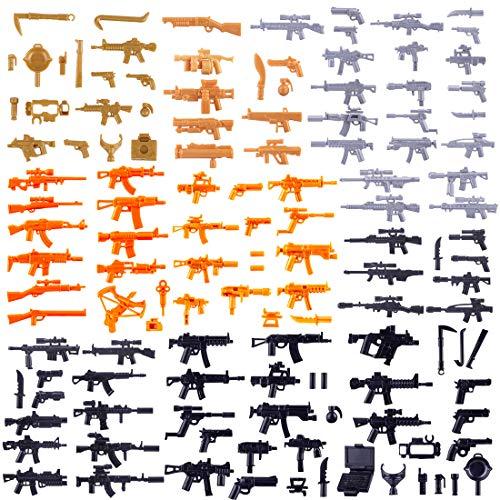 15000P 129St. Custom Waffen Set für SWAT Team Polizei Soldaten Mini Figuren, passen zum Lego (Lego-mini-sets)