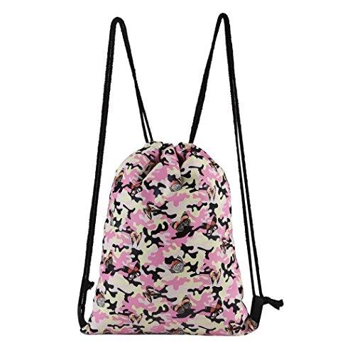 TIFIY 3D Unisex Damen Herren Besondere Muster Kordelzug Rucksack (L_b) (Fendi Canvas Handtasche)
