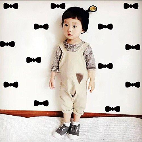 HCCY Kinderzimmer Dekoration Aufkleber im nordischen Stil cute Bow Tie Aufkleber einfache Wand - Wohnheim Schlafzimmer Dekor Aufkleber, Schwarz 5 Stück Stil Bow Tie
