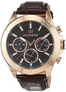 Tommy Hilfiger sofisticado Reloj De Pulsera de hombre, analógico de cuarzo y piel 1791225