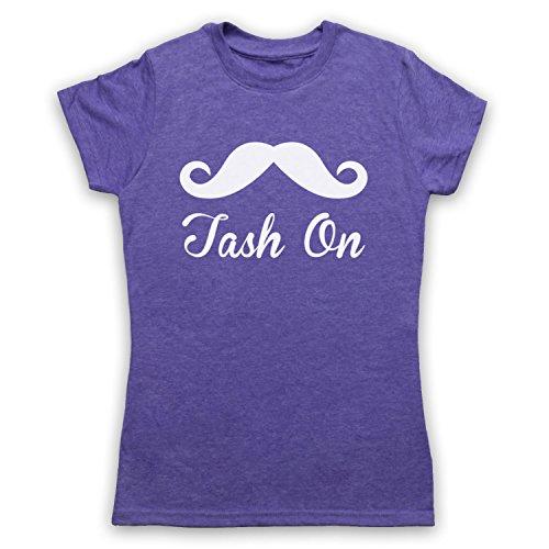 Tash On Slogan Damen T-Shirt Jahrgang Violett