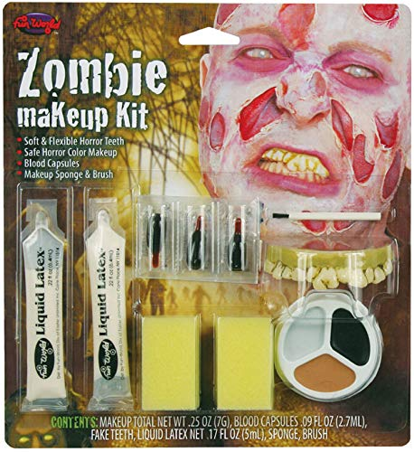 Kostüm Spezialeffekte - Halloween Zombie Spezialeffekte Make-Up Gesichtsbemalung & Zähne Kostüm Set