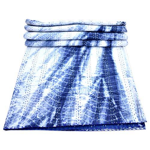 i Tie Dye Kantha Quilt Queen Size Kantha Überwurf Decke Tagesdecke Bettüberwurf ()