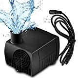 SunTop Mini Wasserpumpe DC12V 5W Brushless Mini Wasserpumpe 500L/H Submersible Pumpe Amphibisch Aquarium Gartenteich Fall Fisch Behälter Wasser Brunnen Unterhaltung Kopf Heben 150cm