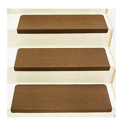Stufenmatten Treppen-Teppich PU Solide Farbe Selbstklebend Einstellen Von Fünfzehn Treppe Pads Rutschfest Nicht Unterhose Waschbar 3mm (Farbe : D, größe : 55X22CM)