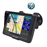 GPS para Coche Pantalla de 7' con Bluetooth Navegador para Camión y Coche con Actualizaciones de Mapas de por Vida