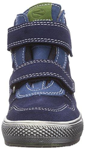 Richter Kinderschuhe  Omero, Baskets hautes garçon Bleu (atlantic/ink/cactus  7201)
