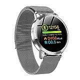 Reloj Inteligente,Smart Watch Sports Fitness & Health Monitor Tracker Actividad Heart Rate Tracker Presión Arterial Reloj Impermeable IP67 (Plata)