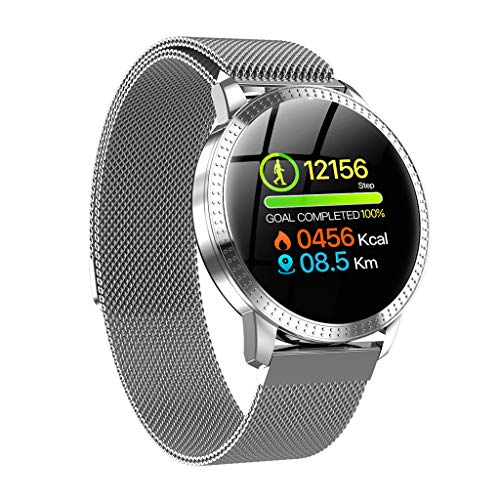 Smartwatch, Elospy Fitness Armbanduhr Fitness Tracker für Damen Herren Sportuhr mit Schrittzähler Pulsmesser Wasserdicht IP67 Smart Watch Musiksteuerung Stoppuhr für iOS Android Handy