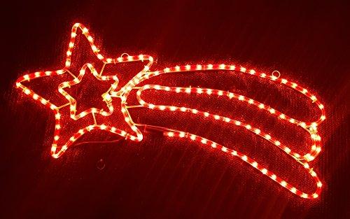 Decorazioni Luminose Natalizie Per Esterni : Stella cadente luminosa rossa decorazione natalizia per esterni