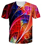 Loveternal Unisex Bunt 3D Drucken Sommer Cool Graphic Kurzarm T-Shirt S