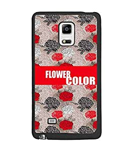 PrintDhaba Flowers D-2575 Back Case Cover for SAMSUNG GALAXY NOTE 4 EDGE (Multi-Coloured)
