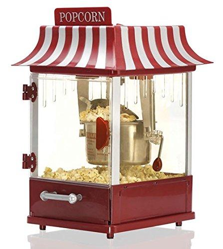 MELISSA XXL Popcorn Maker, 300Watt, Rot & Silber, Dualer Rührmechanismus