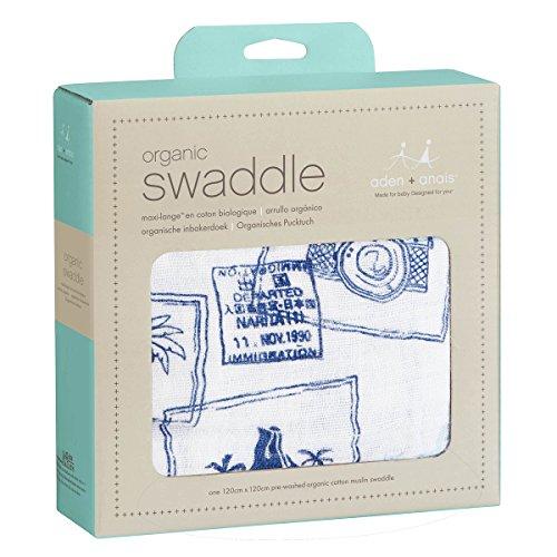 aden + anais 9110G Single Organic Swaddle Warrior Finn