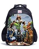 Memoryee Fortnite 3D Game Printing Borsa da scuola per unisex Canvas Backpack Laptop Book Satchel Borsa da viaggio - 15L / 32 x 17 x 42 cm