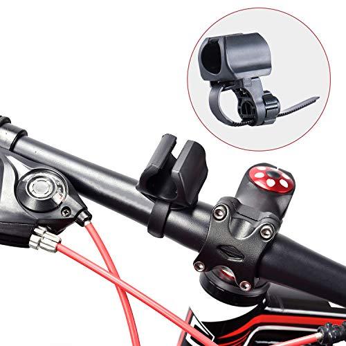 WUBEN Fahrradhalter Taschenlampenhalter Einstellbar, einfach zu installieren, für Taschenlampe Schwarz L50 LT35 L60 und 10~40mm Taschenlampe -