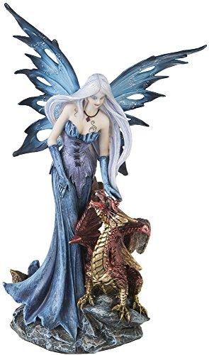AST Dekofigur Elfe Fee mit Drachen Mystik Fantasy