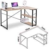 EUGAD Schreibtische 120x74x71,5 cm Computertisch PC-Tisch Bürotisch Arbeitstisch mit Bücherregal Holz, TBS06hei