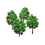 Plastica modello alberi, alberi, alberi di modellismo ferroviario, modello alberi e arbusti, modello alberi miniatura artificiale modelli Diorama architettura paesaggio paesaggio Decor Moss bonsai micro paesaggio DIY Craft ornamento da giardino con supporti non come regalo di Natale (12PCS)
