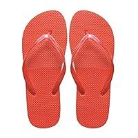 SUGAR ISLAND® Unisex Ladies Girls Mens Summer Beach FLIP Flop Pool SHOES-RED-7/8