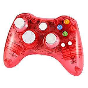 Wetoph Xbox 360 Wireless Controller, GD02 Nachleuchten PC-Controller Transparente Gamepad mit 8 LED-Leuchten Unterst¨¹Tzung Xbox 360 und PC (Windows XP/7/8/10) …