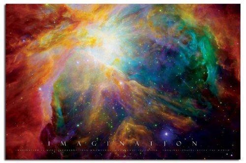 Stainato Opaco Laminato Imagination Poster - Nebulosa - 91,5 x 61cm (36 x 24 Pollici)