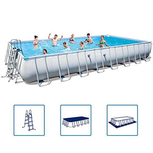 Bestway Power Steel Stahlrahmen Swimming Pool Set rechteckig 956x488x132 cm