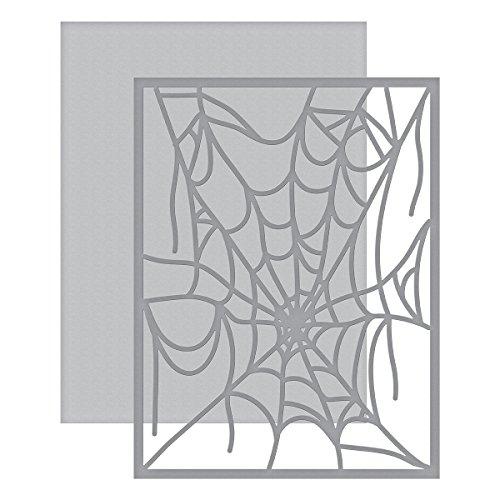 Spellbinders Spider Web Karte vorne Shapeabilities sterben, braun (Netz Web Spider)