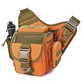 FHGJ Outdoor Satteltasche SLR Kameratasche Multifunktionale Single Shoulder Wasserdicht Rucksack Camouflage Hüfttasche,C