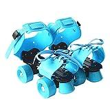 SWAMPLAND Größenverstellbar Rollschuhe mit 4 Rollen zum Trainieren 19 – 25 cm,Unisex,Blau