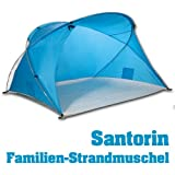 outdoorer Santorin family beach shelter, UV 60 sun protection, small pack size, wind-resistant