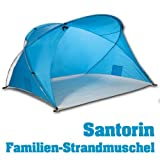 Outdoorer Familien-Strandmuschel Santorin, UV 60 Sonnenschutz, kleines Packmaß, windstabil