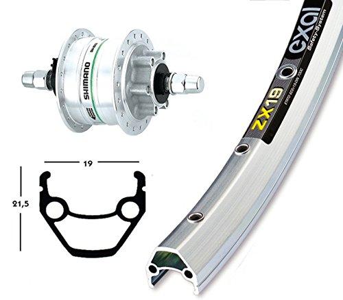 Ridewill Bike Vorderrad 28x 17.5Nabe Shimano Nabendynamo DH3D3036F silber Disc 6loch (Rollen Dynamo)/Front Wheel 28x 1.75Hub Dynamo Shimano DH3D3036H 6Holes Disc (Dynamo Wheels) (Hub-28 Hole)