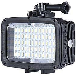 Andoer Ultra lumineux 1800LM 3 Modes étanche sous l'eau 40m 5500K 60pcs CONDUIT lampe de Photo Fill-in Light Studio vidéo plongée pour GoPro Action Cam Canon Nikon Sony DSLR caméra
