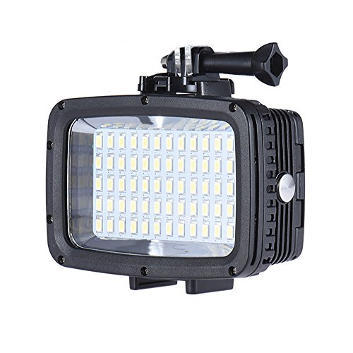 Andoer Ultra Bright 1800LM 3 Modi Wasserdicht Unterwasser 40m 5500K 60pcs LED Tauchen Fill-in Light Video-Studio-Foto-Lampe für GoPro Xiaomi Yi SJCAM Action Cam&für DSLR-Kamera+3 * Filter (Tauchen Licht)