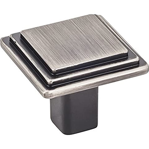 Elements Calloway 1 1/4 Overall Length Cabinet Knob in Brushed Pewter (351L-BNBDL) by Elements (Brushed Pewter Knob)