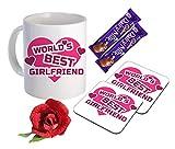 Sky Trends Valentine Romantic Combo Gift Set Printed Coffee Mug Coaster Chocolate's Artyficial Rose Best Gift For Wife Girlfriend Husband Boyfriend Friend STG-09