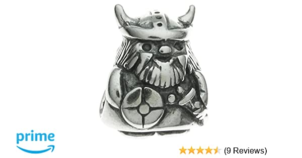 b11b36096 Queenberry Sterling Silver Viking Warrior European Style Bead Charm:  Amazon.co.uk: Jewellery