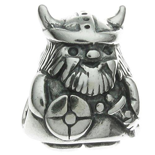 Queen Berry Perla para pulsera de abalorios, diseño de vikingo/pirata Guerrero, Plata de ley 925, para Pulseras de abalorios de pandora, Troll, Chamilia, Biagi
