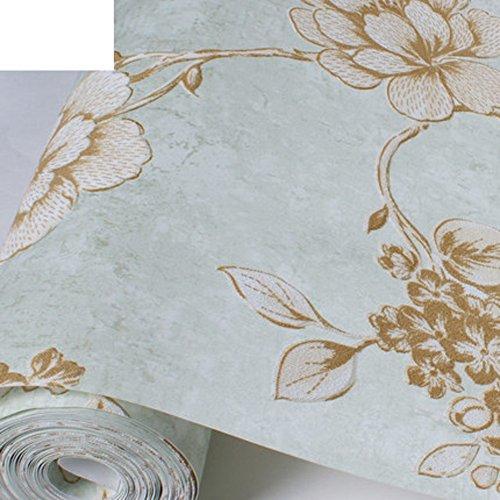 American Country-Tapete Outdoor-Tapete European-Style geprägte Tapete Schlafzimmer Wände eine grüne Wildleder Sofa Tapete-C (Outdoor-wildleder-sofa)