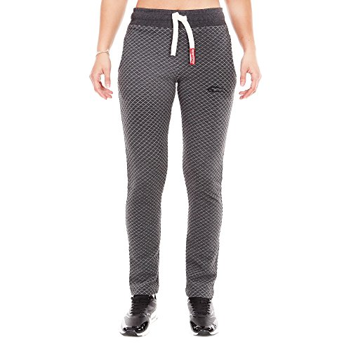 SMILODOX Damen Jogginghose 'Limited' | Trainingshose für Sport Fitness Gym Training & Freizeit | Sporthose - Jogger Pants - Sweatpants Hosen - Freizeithose Lang, Farbe:Anthrazit, Größe:M
