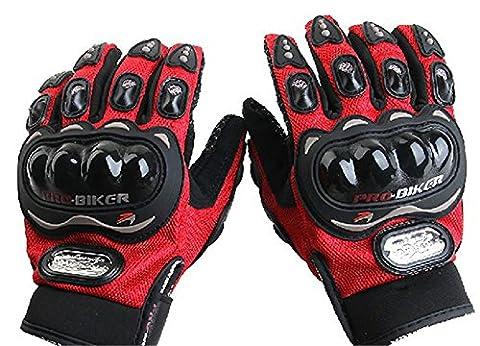 Motorrad-Handschuhe / Outdoor Reiten Racing Handschuhe/All-Finger-Handschuhe / Offroad Handschuhe/ Ritter Reiten Handschuhe-Rot,M