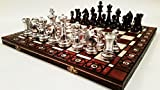 Stauton plata - juego de ajedrez clásico de grande 40cm/16 en