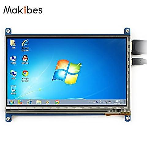 Makibes 5 inch Touch Screen HDMI Monitor (A) 800×480 TFT LCD Display for Raspberry Pi (Pi 2) Model B / B / A Raspberry Pi 3B System