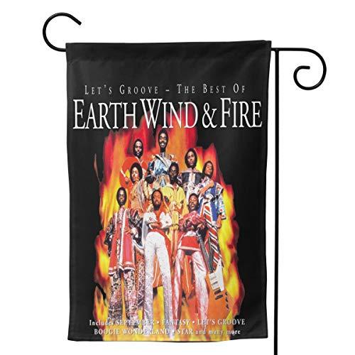 YYTEBBBX Gartenflagge Erde Wind & Fire, weiß, 12.5