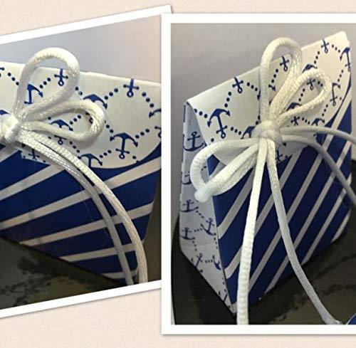 Stock 20 pezzi design mare marino scatolina in cartone bustina ancora portaconfetti decorazioni escluse bomboniera comunione cresima matrimonio